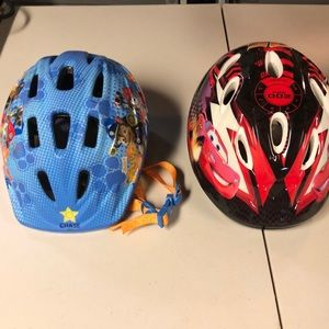 Bundle 2 children helmets